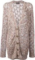 Roberto Collina loose knit cardigan - women - Cotton/Linen/Flax/Viscose/Polyimide - XS