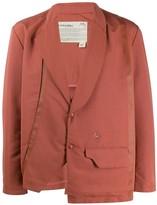 A-Cold-Wall* A Cold Wall* asymmetric satin blazer