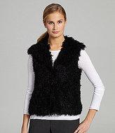 T Tahari Rain Faux-Fur Vest