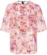 MSGM ruffled front shortsleeved blouse