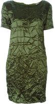 Nina Ricci wrinkled dress - women - Silk/Acetate/Wool - 40