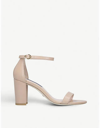 Stuart Weitzman Nearlynude leather heeled sandals