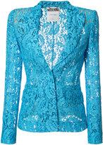 Moschino lace blazer - women - Rayon/Polyamide - 38
