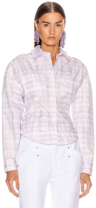 Jacquemus La Chemise Cueillette in Print Purple Checked | FWRD