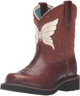 Ariat Unisex Children's Fatbaby Wings Cowboy Boot Hunter Tan/Maple Glaze Full Grain Leather Size 5.5 M