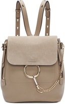 Chloé Grey Medium Faye Backpack