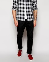 Edwin Jeans ED-55 Relaxed Tapered Fit White Listed Black Selvage