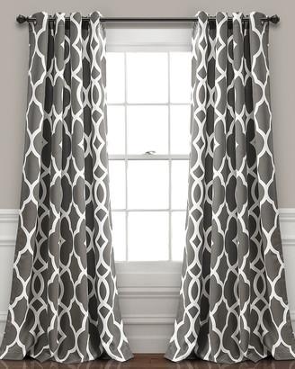 Triangle Home Fashion Connor Geo Room Darkening Window Curtain Panels