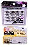 Ardell (1 PACK Double Up Knot Free Double Flares Long Black + Andrea Glue Clear