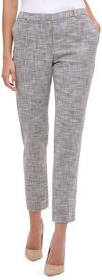 Tommy Hilfiger Novelty Plaid Slim-Leg Ankle Pants