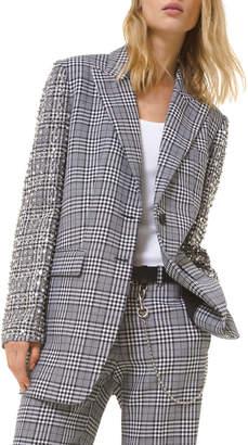 Michael Kors Jeweled-Sleeve Boyfriend Blazer