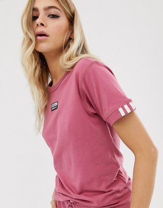 adidas RYV t-shirt in pink-Red