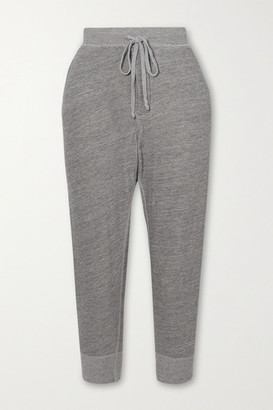 Nili Lotan Nolan Melange Cotton-blend Jersey Track Pants - Gray