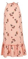 Dorothy Perkins Womens Vero Moda Coral Floral Print Sleeveless Midi Dress, Coral