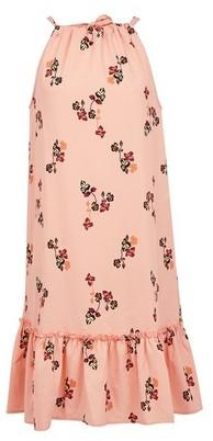 Dorothy Perkins Womens Vero Moda Coral Floral Print Sleeveless Midi Dress, Coral