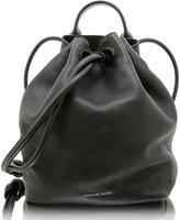 MICHAEL Michael Kors Dalia Large Leather Backpack in Black