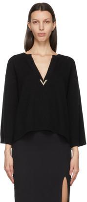 Valentino Black Cashmere VLogo Sweater