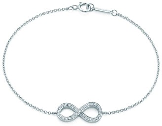 Tiffany & Co. Infinity bracelet in platinum with diamonds, small