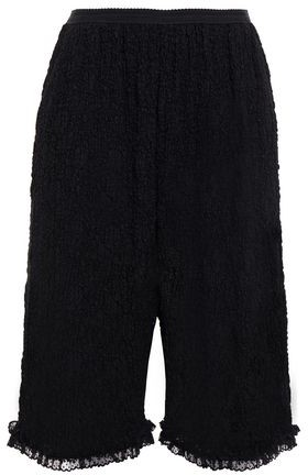 MM6 MAISON MARGIELA Lace-trimmed Cloque-lace Shorts