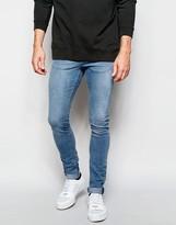 Pull&bear Light Wash Super Skinny Fit Jeans - Blue