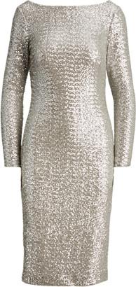 Ralph Lauren Sequinned Cocktail Dress