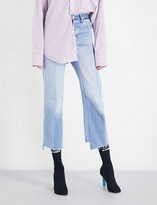 Vetements Rework Biker straight cropped high-rise jeans