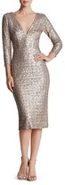 Dress the Population Casey Sequin V-Neck Dress