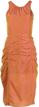 Acne Studios Iridescent-Effect Ruched Dress