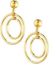 Jose & Maria Barrera Double Hoop Drop Earrings