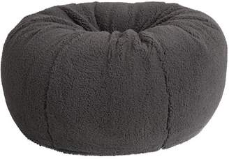 Pottery Barn Teen Charcoal Sherpa Faux-Fur Beanbag, Slipcover, Large