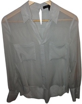 BCBGMAXAZRIA Grey Silk Top