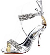 SEXYHER Womens Sparkling Diamond Covered 3.5 Inches High Heel Wedding Party Sandals Shoes - SHOMQ1088-2-3.5