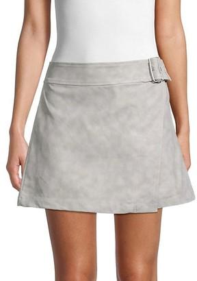 Free People Ari Faux Leather Wrap Skirt