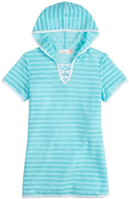 Free Country Girls 7-16 Hooded Criss-Cross Swim Cover-Up