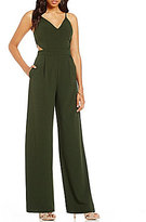 GB Cut-Out Wide Leg V-Neck Jumpsuit
