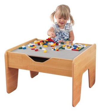 Kid Kraft Activity Table with Board - Gray & Natural