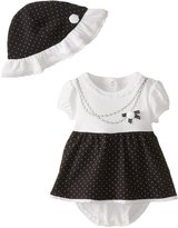 Little Me Baby-Girls Newborn Necklace Popover Dress