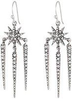 Lulu Frost Women's Antique Silver Plated Nova Drop Earrings