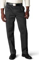 Dockers Classic Fit Signature Khaki Pant - Pleated D3, Black Stretch, 32x30