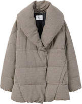 MANGO Houndstooth wool-blend anorak