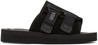 Suicoke Black Kaw-VS Sandals