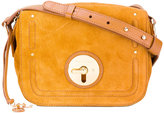 See by Chloe fold-over closure crossbody bag - women - Cotton/Calf Leather - One Size