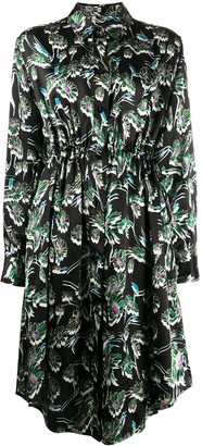 MM6 MAISON MARGIELA Floral Print Shirt Dress