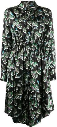 MM6 MAISON MARGIELA floral print shirt dress