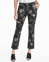 White House Black Market Floral Printed Crop Flare Pants