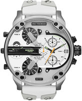 Diesel Men's Chronograph Mr. Daddy 2.0 White Leather & Silicone Strap Watch 57mm