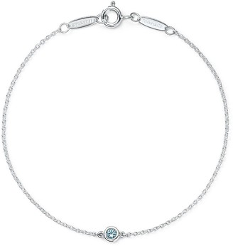 Tiffany & Co. Elsa Peretti Color by the Yard bracelet in sterling silver with an aquamarine