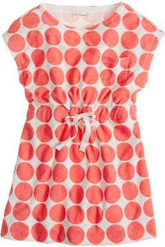 J.Crew Girls' terry pocket dress in dot