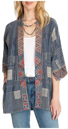 Johnny Was Thora Chambray Kimono (Denim Blue) Women's Clothing