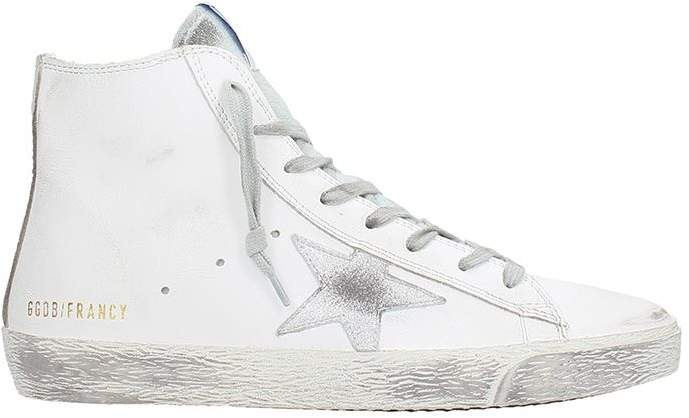 Golden Goose Francy White Leather Sneakers